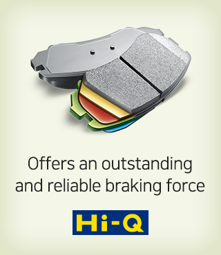 Hi-Q, offers an outstanding and reliable braking force.